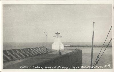 , Front Light, Wharf Range, Cape Tormentine, N.B. (1945), PEI Postcards