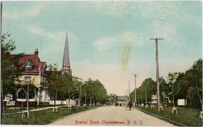 , Pownal Street, Charlottetown, P.E.I. (1946), PEI Postcards