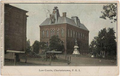 , Law Courts, Charlottetown, P.E.I. (1950), PEI Postcards