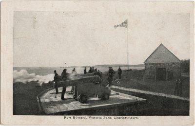 , Fort Edward, Victoria Park, Charlottetown. (1957), PEI Postcards