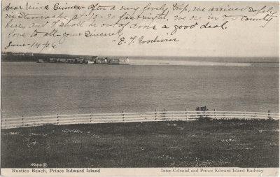 , Rustico Beach, Prince Edward Island (1974), PEI Postcards