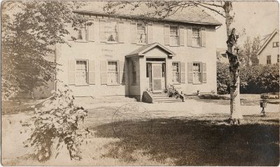 , {Hon. John Brecken House, 185 King Street, Charlottetown. card signed by John L. Thompson who     bought Brecken House in 1907} (1960), PEI Postcards