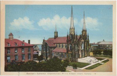 , Dunstan's Cathedral, Charlottetown, Prince Edward Island, Canada (1981), PEI Postcards