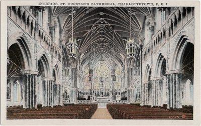 , Interior, St. Dunstan's Cathedral, Charlottetown, P.E.I. (1984), PEI Postcards