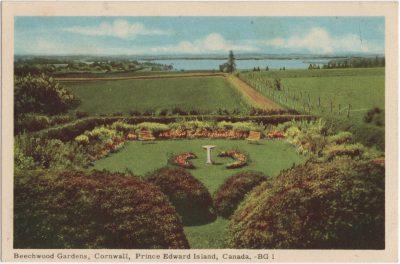 , Beechwood Gardens, Cornwall, Prince Edward Island, Canada. (1987), PEI Postcards