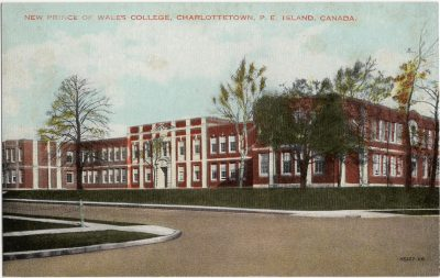 , New Prince of Wales College, Charlottetown, P.E. Island, Canada. (1992), PEI Postcards