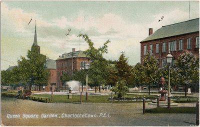 , Queen Square Garden, Charlottetown, P.E.I. (1993), PEI Postcards