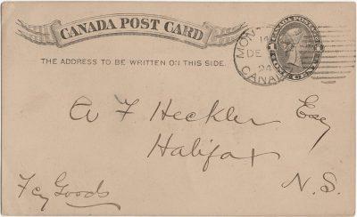 , Postcard signed by W.S. Louson. (1994), PEI Postcards