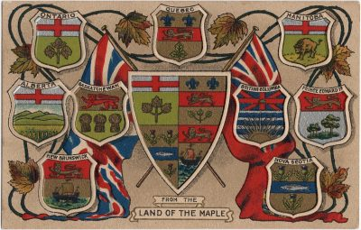 , From the Land of the Maples {provincial emblems} (2003), PEI Postcards