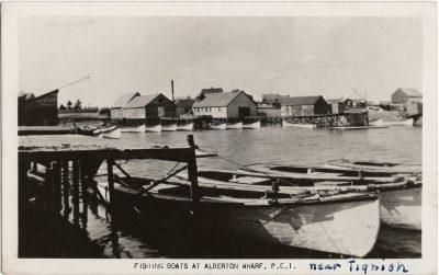 , Fishing Boats at Alberton Wharf, P.E.I. (2010), PEI Postcards