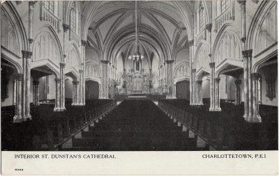 , Interior St. Dunstan's Cathedral Charlottetown, P.E.I. (2016), PEI Postcards