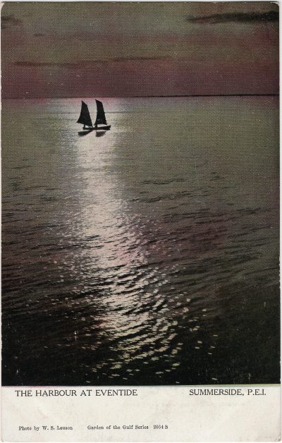 , The Harbour at Eventide Summerside, P.E.I. (2020), PEI Postcards