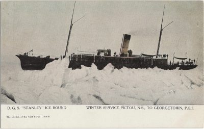 """, D.G.S. """"Stanley"""" Ice Bound Winter Service Pictou, N.S. to Georgetown, P.E.I. (2021), PEI Postcards"""