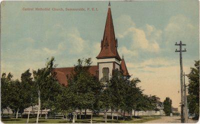 , Central Methodist Church, Summerside, P.E.I. (2022), PEI Postcards