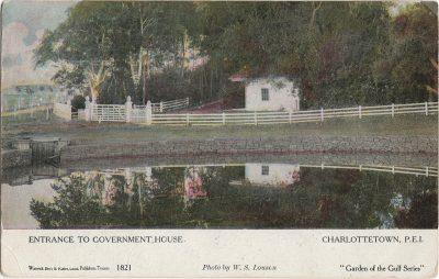 , Entrance to Government House Charlottetown, P.E.I. (2023), PEI Postcards