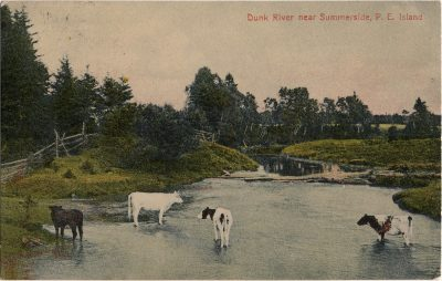, Dunk River near Summerside, P.E. Island (2028), PEI Postcards