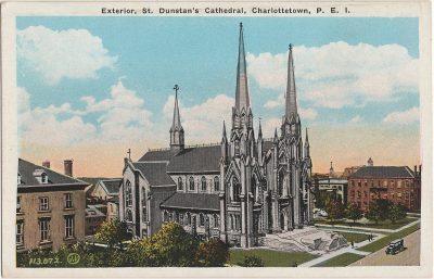 , Exterior, St. Dunstan's Cathedral, Charlottetown, P.E.I. (2036), PEI Postcards