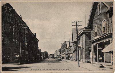 , Water Street, Summerside, P.E. Island. (2038), PEI Postcards