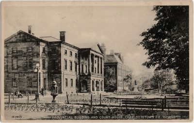 , Provincial Building and Court House, Charlottetown, P.E. Island (2040), PEI Postcards