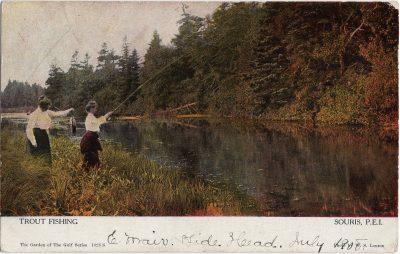 , Trout Fishing Souris, P.E.I. (2046), PEI Postcards