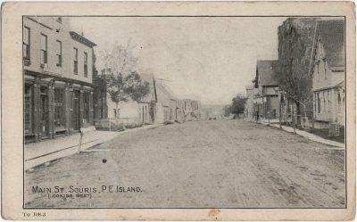 , Main St. Souris, P.E. Island (Looking West) (2061), PEI Postcards