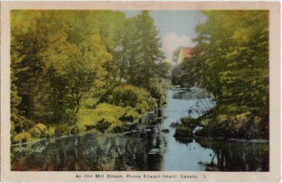 , An Old Mill Stream, Prince Edward Island, Canada. (2062), PEI Postcards