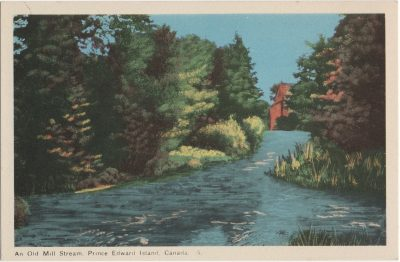, An Old Mill Stream, Prince Edward Island, Canada. (2067), PEI Postcards