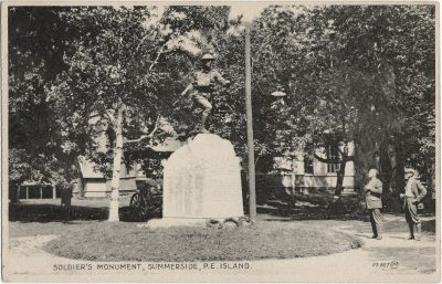 , Soldier's Monument, Summerside, P.E. Island (2072), PEI Postcards