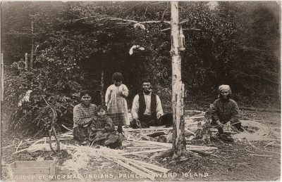 , Group of Mic-Mac Indians, Prince Edward Island (2078), PEI Postcards
