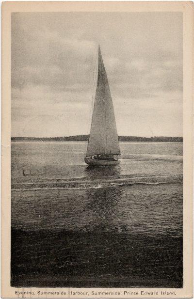 , Evening, Summerside Harbour, Summerside, Prince Edward Island. (2079), PEI Postcards