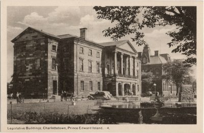 , Legislative Buildings, Charlottetown, Prince Edward Island. (2083), PEI Postcards