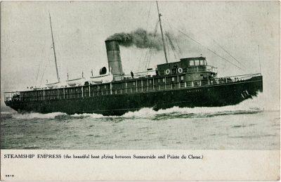 , Steamship Empress (the beautiful boat plying between Summerside and Pointe du Chene.) (2088), PEI Postcards