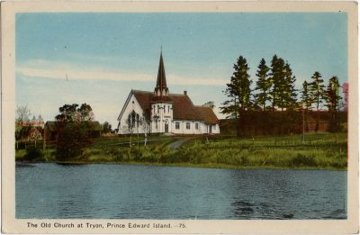, The Old Church at Tryon, Prince Edward Island. (2098), PEI Postcards