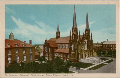 , St. Dunstan's Cathedral, Charlottetown, Prince Edward Island. (2097), PEI Postcards