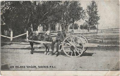 , An Island Wagon, Souris, P.E.I. (2111), PEI Postcards