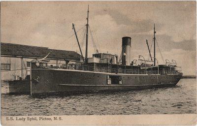 , S.S. Lady Sybil, Pictou, N.S. (2115), PEI Postcards