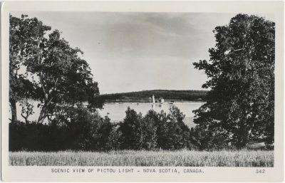 , Scenic View of Pictou Light – Nova Scotia, Canada. (2118), PEI Postcards