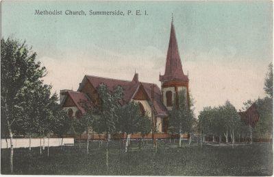 , Methodist Church, Summerside, P.E.I. (2123), PEI Postcards