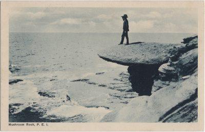 , Mushroom Rock, P.E.I. {see Table Rock, near Bedeque} (2124), PEI Postcards