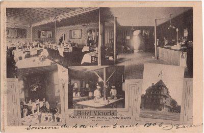 , Hotel Victoria, Charlottetown Prince Edward Island RH Sterns, Prop (2131), PEI Postcards