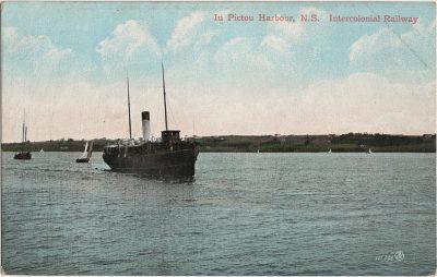 , In Pictou Harbour, N.S. Intercolonial Railway (2132), PEI Postcards