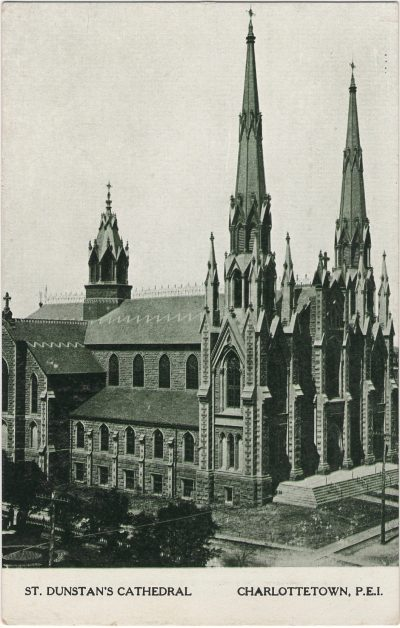 , St. Dunstan's Cathedral Charlottetown, P.E.I. (2135), PEI Postcards