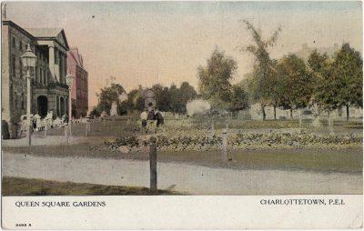 , Queen Square Gardens Charlottetown, P.E.I. (2136), PEI Postcards