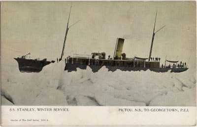 , S.S. Stanley, Winter Service Pictou, N.S. to Georgetown, P.E.I. (2137), PEI Postcards