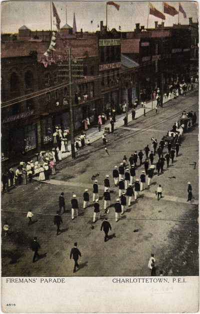 , Firemans' Parade Charlottetown, P.E.I. (2138), PEI Postcards