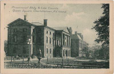 , Provincial Bldg & Law Courts. Queen Square, Charlottetown, P.E. Island. (2147), PEI Postcards
