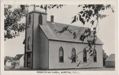 , Presbyterian Church, Alberton, P.E.I. (2109), PEI Postcards