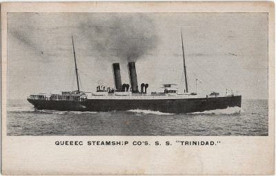 ", Quebec Steamship Co's S.S. ""Trinidad."" (2256), PEI Postcards"