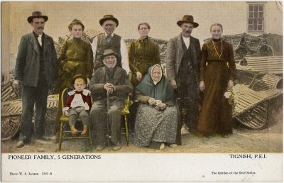 , Pioneer Family, 5 Generations Tignish, P.E.I. (2197), PEI Postcards
