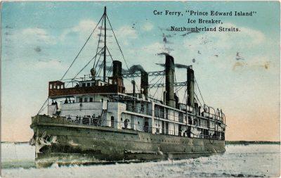 ", Car Ferry, ""Prince Edward Island"" Ice Breaker, Northumberland Straits. (2198), PEI Postcards"